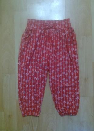 Фирменные летние трикотажные штаны шаровары 1,5-2 года