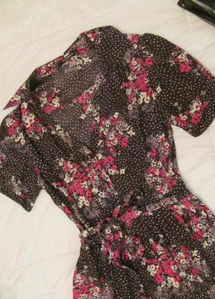 Сказочное платье шелк натуральный цветы