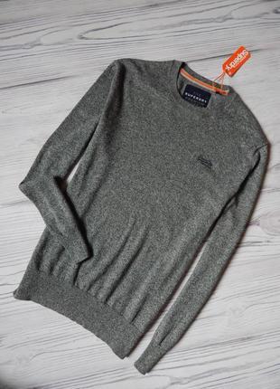 Брендовый, стильный мужской пуловер, джемпер от superdry.  размер xl -2xl.