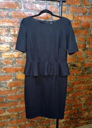 Платье футляр прямого силуэта с баской marks & spencer
