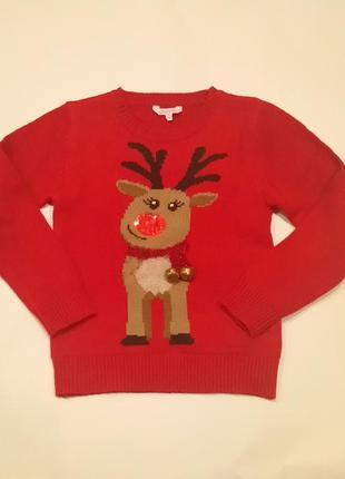 Новогодний свитер с бубенцами
