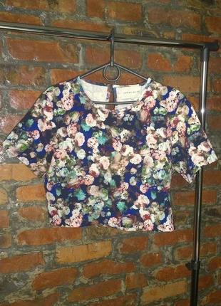 Свитшот кофточка блуза с цветочным принтом