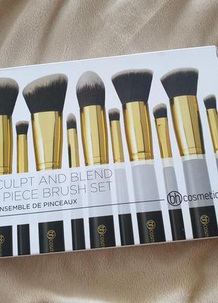 Набор кистей bh cosmetics sculpt and blend brush set