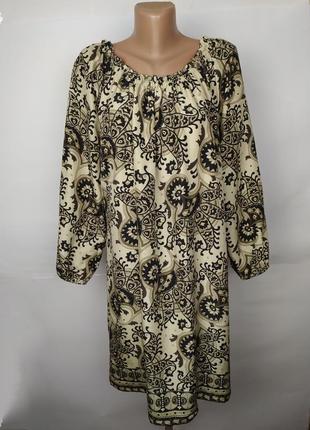 Платье michael kors шелковое стильное в орнамент 100% шелк!  uk 14/42/l