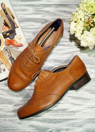 Clarks. кожа. комфортные туфли на шнуровке, оксфорды