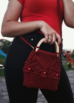 Сумка,жіноча сумка,маленька сумочка,еко сумка,макраме сумка