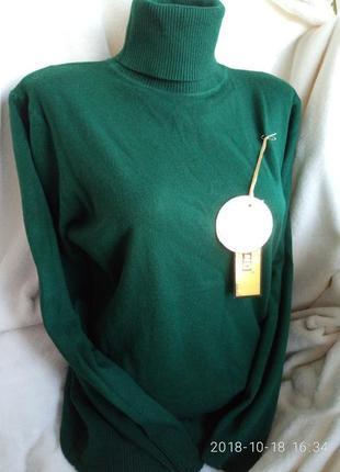 Гольф под горло свитер кашемир шерсть милано  беж  цвета норма батал3 фото