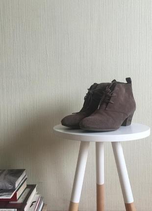 Демисезонные коричневые ботинки clarks
