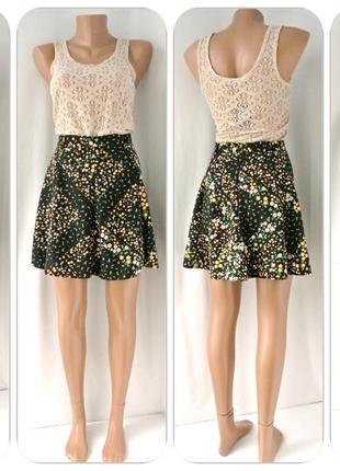 Очаровательная юбка-мини george в цветочек. размер uk 10/eur 38, s/m.