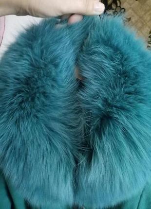 Пальто, бирюзового цвета, носилось 2 сезона