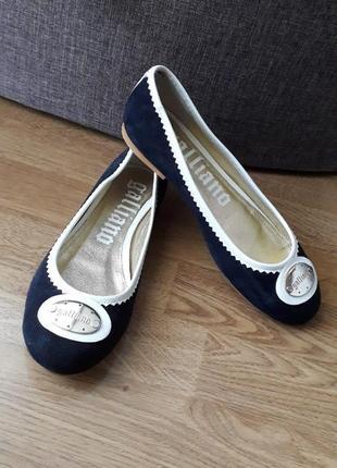Кожаные туфли,балетки john galliano.