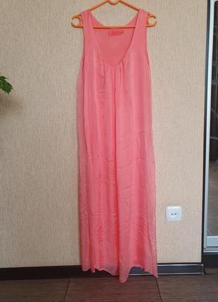 Воздушное , нежное платье, сарафан италия, шёлк и вискоза