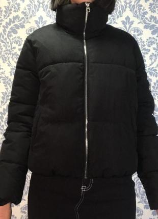 Дутая куртка пуховик bershka