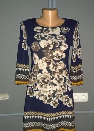 Романтичное платье из джерси с цветочным принтом