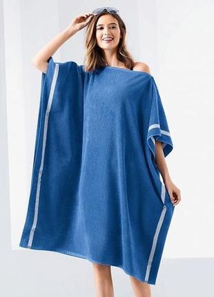Отличное махровое полотенце-пончо, сауна, германия