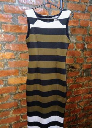 Облегающее по фигуре платье чехол футляр в полоску h&m