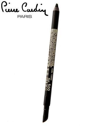 Влагостойкий карандаш для глаз cardin smokey black/ черный2 фото