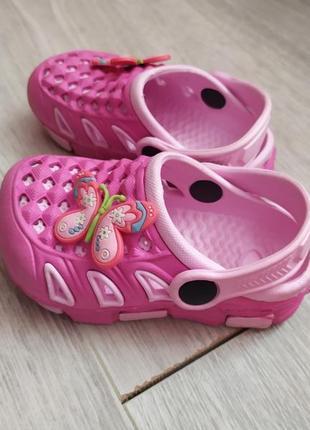 Кроксы на малышку на девочку crocs