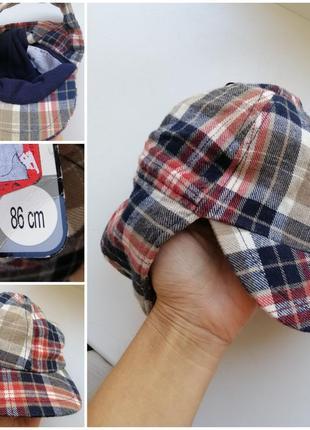 Теплая кепка- ушанка для мальчика 1- 1.5 года