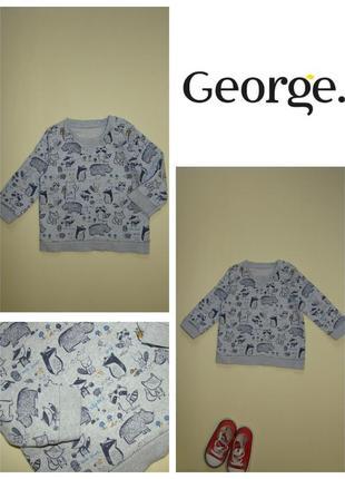 Свитшот свитер кофта george 6-12 мес