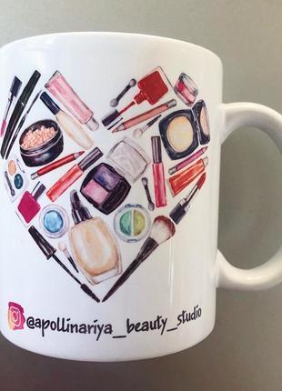Чашка подарок для визажиста