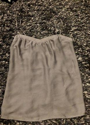 Топ серый в бельевом стиле stile benetton