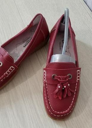 Cotton traders кожаные женские туфли мокасины лоферы р.36 (23,3см)