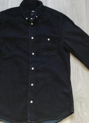 Продам мужскую джинсовую рубашку h&m