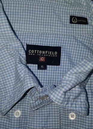 Продам мужскую рубашку в клеточку cottonfield