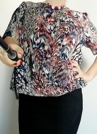 Блуза george россыпь красок 16-18/52-54 размер