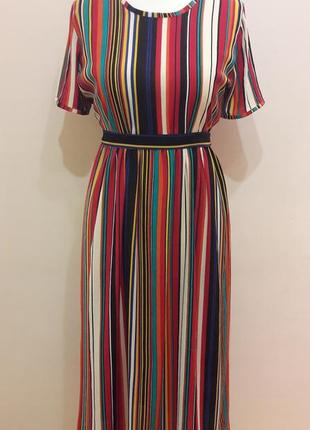 Летняя распродажа!!! шикарное яркое платье в полоску