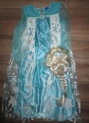 Фирменное платье ельзы с париком на красотку