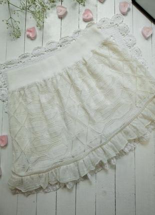 Красивая теплая юбка с мохером