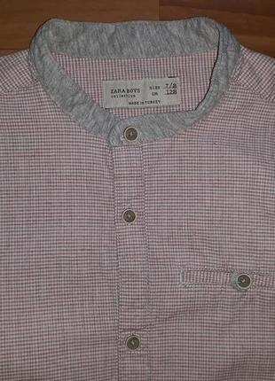 Стилёвая рубашка zara на 7-8 лет