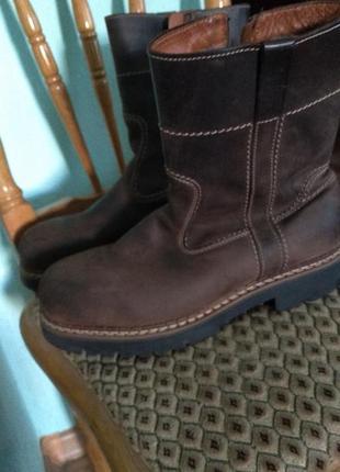 Сапоги ботинки натуральная кожа мутон фирма josef seibel