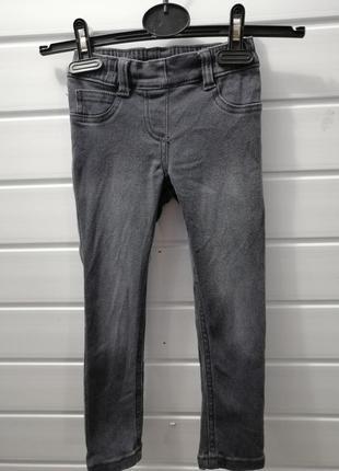 Утеплённые стрейчевые джинсы lupilu