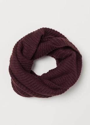 H&m вязаный шарф - труба снуд хомут из мягкой трикотажной ткани пряжи