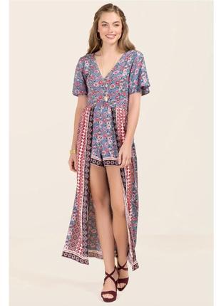Sale! длинное платье-ромпер francesca's1 фото