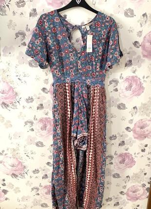 Sale! длинное платье-ромпер francesca's4 фото