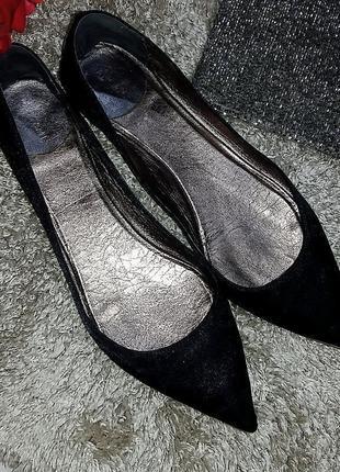 Крутые остроносые атласные балетки biancame 40-41 размер5 фото