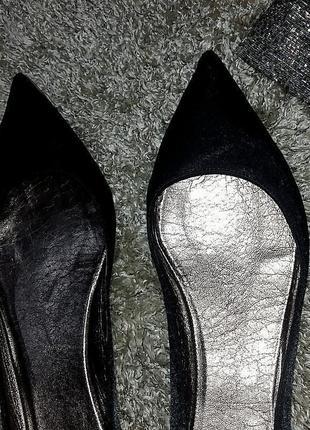 Крутые остроносые атласные балетки biancame 40-41 размер6 фото