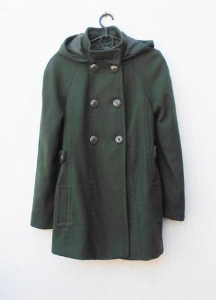 Осеннее демисезонное пальто реглан c капюшоном