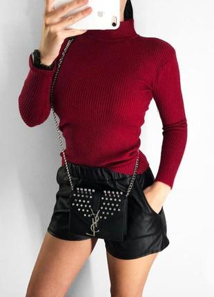 Хит 2019! стильный вязаный гольф с бусинами на рукавах, водолазка, кофта, свитер