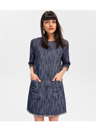 Модное платье с текстурированной ткани, reserved новая коллекция, p.50