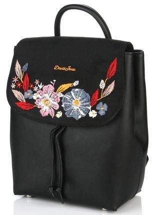 Рюкзак с вышивкой david jones 6141-4 черный