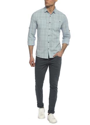 16-8 lc waikiki новая мужская рубашка в клетку размер s хлопок3 фото