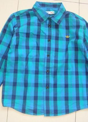 Яркая рубашка 7-8лет