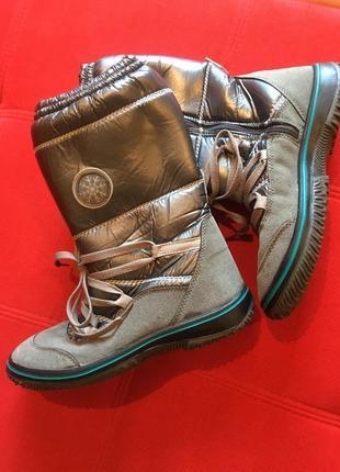 Сапоги ботинки снегоступы натуральный замш зимние итальянский бренд versus
