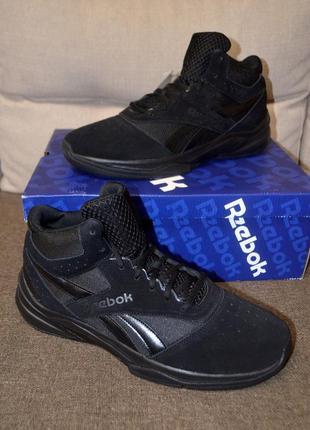 Кожаные утепленные кроссовки ботинки reebok pro heritage