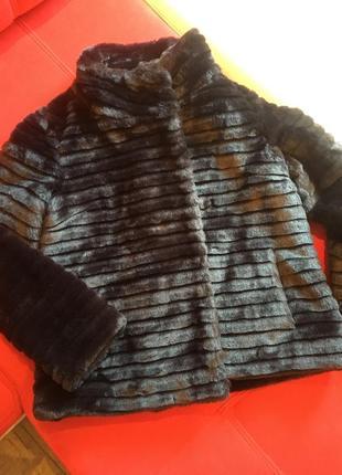 Полушубок шуба искусственный мех с карманами m&co